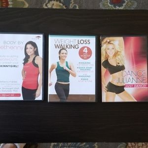 3 exercise dvds